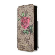 Genuine GUESS PU 4G Flower Desire Book Case with Card Slots Samsung S9