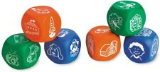 Set of 6 Learning Resources Soft Foam Story Starter Picture Cubes