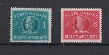 Italia 1947 recapito autorizzato 8-9 Mnh
