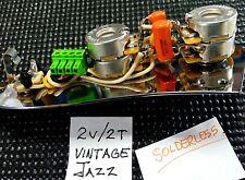 Fender Vintage Jazz Bass 2V,2T  Harness with Plate - Solderless installation!