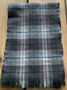 "Vintage Lochmarl Pure New Wool Scarf Made In Scotland 60"" X 10"""