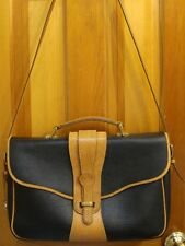 VTG DOONEY & BOURKE Black & British Tan AWL Legal Briefcase Satchel Shoulder Bag