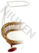 Himmelstange für Stubenwagen Weidebett Universal zum Bettset Weiß EU-Produkt