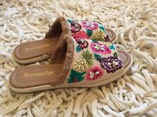 MONSOON ACCESSORIZE  Women Embroidered Jewelled  SANDALS FLAT SHOES Small UK 3-4