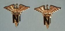 US Army Nurse Lapel Badges WWII Copy