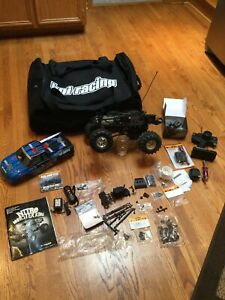 HPI RC Savage Nitro 4x4 Monster King Wheely Truck Gas Bag Extras Motor Clean WOW