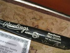 Vince Coleman GAME USED 1989 All Star BAT shaved handle RARE