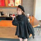 Lady Loose Retro Shirts Lolita Blouse Ruffles Lace Top Puff Sleeve Kawaii Cute