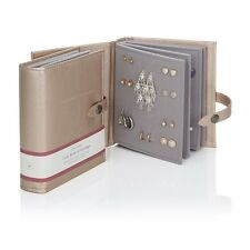 Large Little Book Of Earrings Gold 4 Page Jewellery Storage Box Travel Book Gift