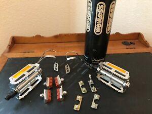 Vintage NOS  KKT Pedal Kit With Christophe Toe Kicks. NEW. Must See