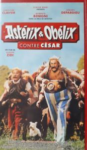 CASSETTE VIDEO VHS - ASTERIX & OBELIX CONTRE CESAR / ZIDI, CLAVIER, DEPARDIEU