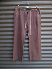 Guess Brown Linen Pants Size 28 Measured Waist 34 Leg 27