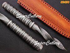 Genuine Custom Handmade Damascus Tri Dagger Hunting knives hand forged Fixed