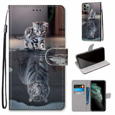 Cat Becomes Tiger Cool Animal Hot Flip Wallet Stand Case Cover For Various Phone