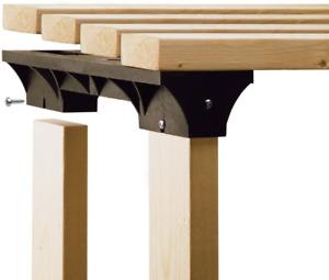 2x4basics 90124 Custom Shelving and Storage System Shelflinks, Black Pack of 6