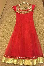 GREAT REDUCED PRICE - Designer Net Salwar Suit In Peach/pink Shade