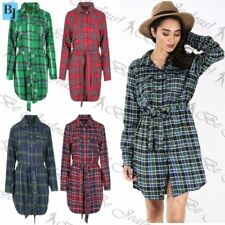 Cotton Check Dresses for Women with Buttons
