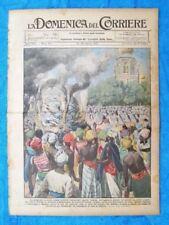 La Domenica del Corriere 28 agosto 1921 Gandhi - New York - Ferrovia Massaua