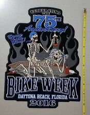 Large Back Patch Embroidered; Skulls Party, Bike Week 2016 Daytona Beach 75th