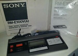 Sony Video Editing Controller RM-E100V (A) New Boxed