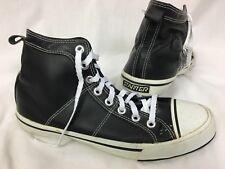 Vintage Starter 'JACK' Blackout High Top Shoes Mens 7.5 Black Leather Sneakers