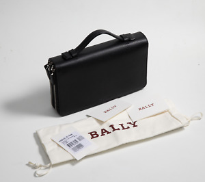 (RRP$725) Bally Magus men clutch,wallet,card holder,bag,handbag,travel bag NWT
