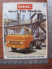 1971 71 GMC Steel Tilt 5500 6500 7500 9500 Commercial Truck Dealer Sale Brochure