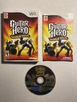 CIB Guitar Hero: World Tour (Nintendo Wii, 2008) COMPLETE IN BOX