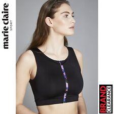 Sport Lift Camo Bra Top Marie Claire Black Fashion Training Gymwear RRP: £39.99