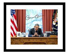 Barack Obama 11x14 Signed Photo Print Office Desk White House President