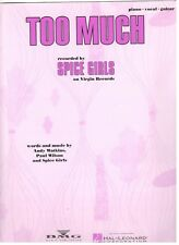 "Spice Girls ""Too Much"" Sheet Music-Piano/Vocal/Guitar- Rare-Brand New On Sale!"