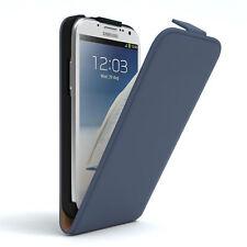 Tasche für Samsung Galaxy Note 2 Flip Case Schutz Hülle Cover Dunkelblau
