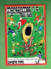 #T65.  FOOTBALL SOCCER  PROGRAM - 1982-83 MORECAMBE