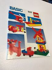 Vintage 1987 Lego No 537 Basic Manual Only