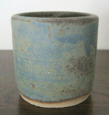 Lovely Studio Pottery Blue Stoneware Vase Pot Beaker