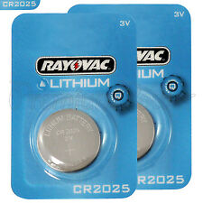 2 x Rayovac CR2025 batteries Lithium 3V Coin cell Watch ECR2025 BR2025 EXP:2023