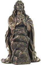 "JESUS PRAYING IN GETHSEMANE Cold-Cast Bronze Statuette, 7.5"", Unicorn Studio"