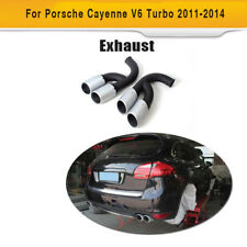Rear Exhaust Tip Muffler Long Pipe End for 2011-2014 Porsche Cayenne V6 Engine