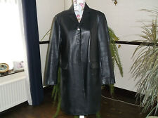 LADIES REAL LEATHER FULLY LINED COAT. SIZE MED-LARGE see discription