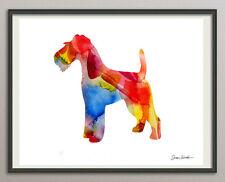 wire drahthaar fox terrier dog Hund- alle Größen -  Druck Kunstdruck poster