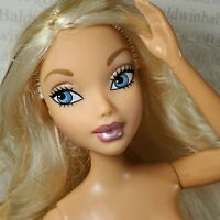 (F57)~NUDE BLONDE BLUE EYES BARBIE MY SCENE LARGE HEAD ARTICULATED DOLL FOR OOAK