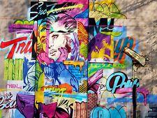 ART PRINT POSTER PHOTO GRAFFITI MURAL STREET AFRICAN EARRINGS NOFL0134