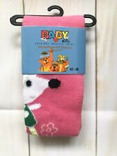 Baby Quality Girl Tights Pink Animal Pattern Size 62-68 (0-6months)