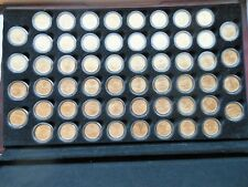 1999-2009 24 Karat Gold Layered P&D State Quarters *112 Coins* in Wooden Chest