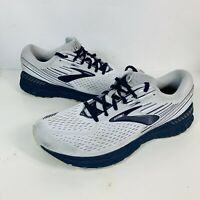 Brooks Adrenaline GTS 19 Grey Navy Blue Athletic Road Running Shoes Men's 10