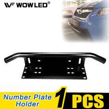 Front Bumper Number Plate Holder LED Light Bar Mount Bracket Jeep Car 4x4 Truck