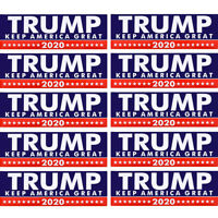 New 10Pcs/set 2020 Trump for President Make America Great Again Bumper Sticker