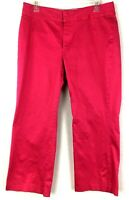 Banana Republic Harrison Stretch Women's Sz: 12 Causal Pink Capri Pants Cropped