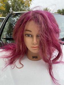Gabriela Manikin Mannequin Cosmetology Mannequin Head Burmax Pink Hair Halloween