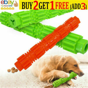Pet Dog Puppy Rubber Ball Rubber Ball Teething Durable Treat Clean Chew Toy NL